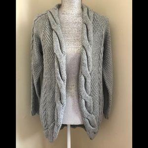 Zara Cardigan cable knit Sweater